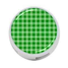 Gingham Background Fabric Texture 4-Port USB Hub (Two Sides)