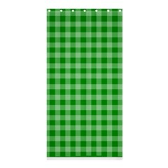 Gingham Background Fabric Texture Shower Curtain 36  x 72  (Stall)