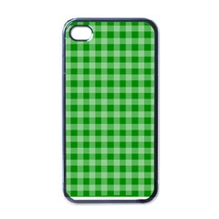 Gingham Background Fabric Texture Apple iPhone 4 Case (Black)