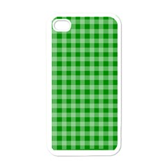 Gingham Background Fabric Texture Apple iPhone 4 Case (White)