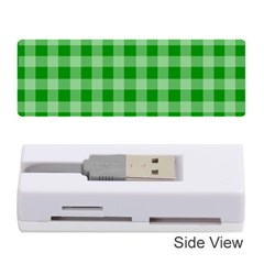 Gingham Background Fabric Texture Memory Card Reader (Stick)