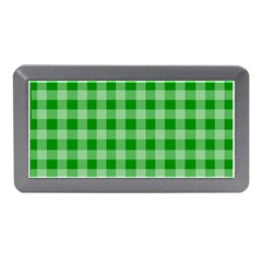 Gingham Background Fabric Texture Memory Card Reader (Mini)