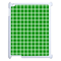 Gingham Background Fabric Texture Apple iPad 2 Case (White)