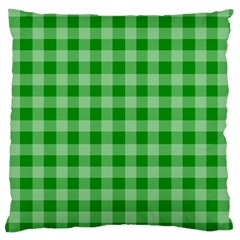 Gingham Background Fabric Texture Large Cushion Case (Two Sides)