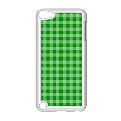 Gingham Background Fabric Texture Apple iPod Touch 5 Case (White)