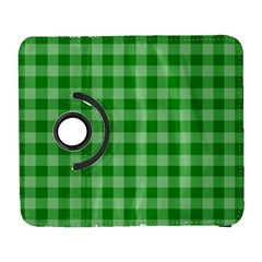 Gingham Background Fabric Texture Galaxy S3 (Flip/Folio)