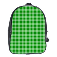 Gingham Background Fabric Texture School Bags (XL)