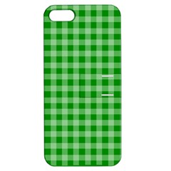 Gingham Background Fabric Texture Apple iPhone 5 Hardshell Case with Stand