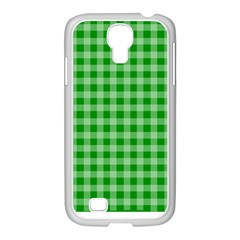 Gingham Background Fabric Texture Samsung GALAXY S4 I9500/ I9505 Case (White)
