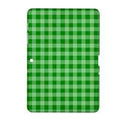 Gingham Background Fabric Texture Samsung Galaxy Tab 2 (10.1 ) P5100 Hardshell Case
