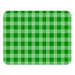 Gingham Background Fabric Texture Double Sided Flano Blanket (Large)
