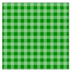 Gingham Background Fabric Texture Large Satin Scarf (Square)