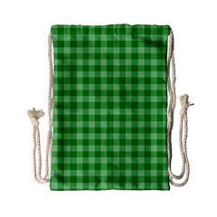 Gingham Background Fabric Texture Drawstring Bag (Small)