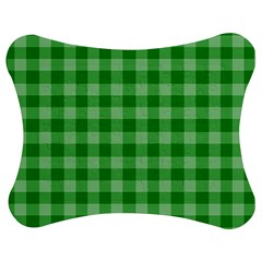 Gingham Background Fabric Texture Jigsaw Puzzle Photo Stand (Bow)
