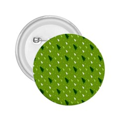 Green Christmas Tree Background 2.25  Buttons