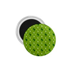 Green Christmas Tree Background 1.75  Magnets