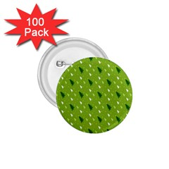 Green Christmas Tree Background 1.75  Buttons (100 pack)