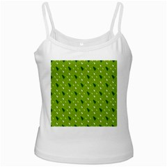 Green Christmas Tree Background Ladies Camisoles