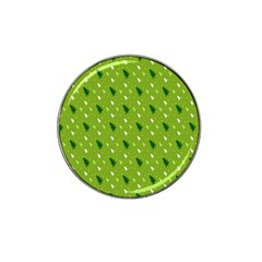 Green Christmas Tree Background Hat Clip Ball Marker (4 pack)