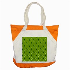 Green Christmas Tree Background Accent Tote Bag