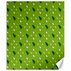 Green Christmas Tree Background Canvas 8  x 10