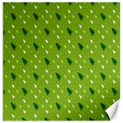 Green Christmas Tree Background Canvas 12  x 12