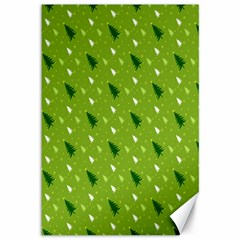 Green Christmas Tree Background Canvas 12  x 18