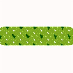 Green Christmas Tree Background Large Bar Mats