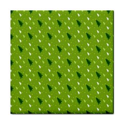 Green Christmas Tree Background Face Towel