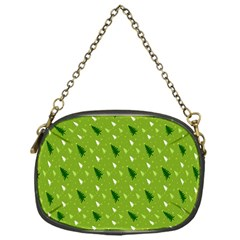 Green Christmas Tree Background Chain Purses (One Side)