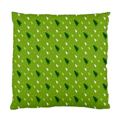 Green Christmas Tree Background Standard Cushion Case (One Side)