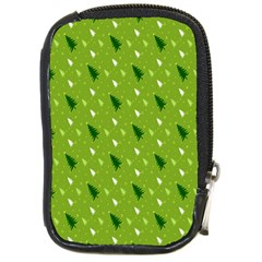 Green Christmas Tree Background Compact Camera Cases