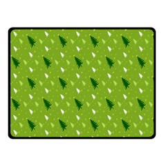 Green Christmas Tree Background Fleece Blanket (Small)