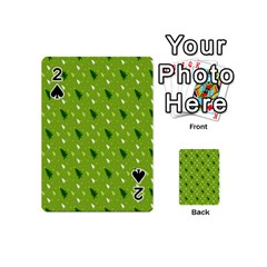 Green Christmas Tree Background Playing Cards 54 (Mini)