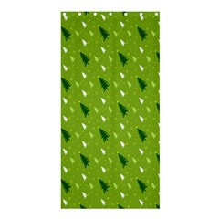 Green Christmas Tree Background Shower Curtain 36  x 72  (Stall)