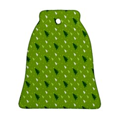 Green Christmas Tree Background Ornament (Bell)