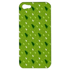 Green Christmas Tree Background Apple iPhone 5 Hardshell Case