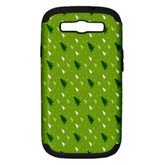 Green Christmas Tree Background Samsung Galaxy S Iii Hardshell Case (pc+silicone)