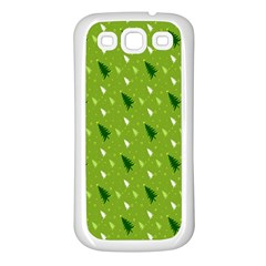Green Christmas Tree Background Samsung Galaxy S3 Back Case (White)