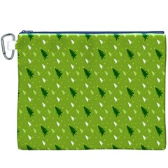 Green Christmas Tree Background Canvas Cosmetic Bag (XXXL)