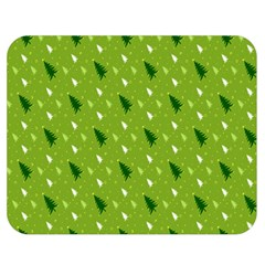 Green Christmas Tree Background Double Sided Flano Blanket (Medium)