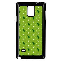 Green Christmas Tree Background Samsung Galaxy Note 4 Case (Black)