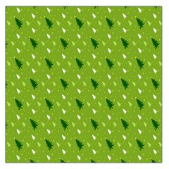 Green Christmas Tree Background Large Satin Scarf (Square)