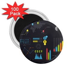 Graphic Table Symbol Vector Chart 2.25  Magnets (100 pack)
