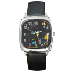 Graphic Table Symbol Vector Chart Square Metal Watch