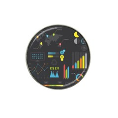Graphic Table Symbol Vector Chart Hat Clip Ball Marker (10 pack)