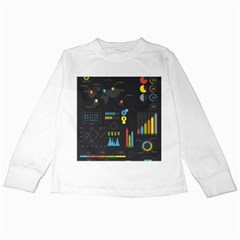 Graphic Table Symbol Vector Chart Kids Long Sleeve T-Shirts