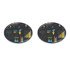 Graphic Table Symbol Vector Chart Cufflinks (Oval)