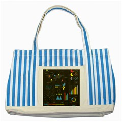 Graphic Table Symbol Vector Chart Striped Blue Tote Bag