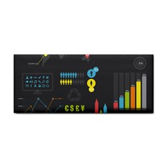 Graphic Table Symbol Vector Chart Cosmetic Storage Cases